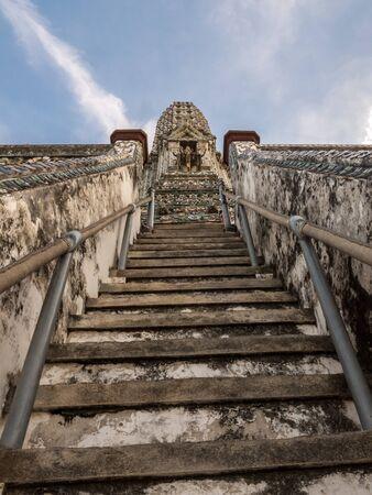 wat arun: Staircase at the Wat Arun Bangkok Thailand