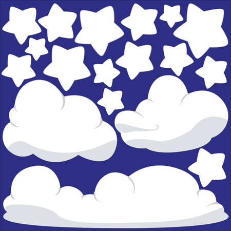 Clouds and Stars Stock Vector - 17192141