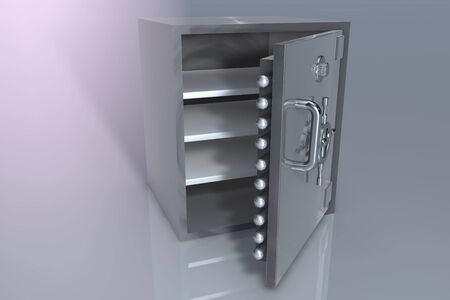 3D rendering opened bank safe Stock Photo - 6662831