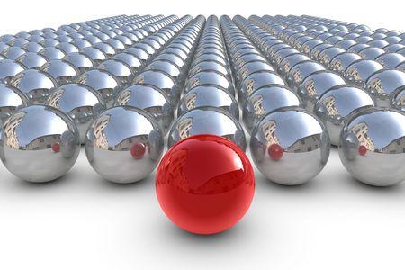 Lidera czerwonych kuli sfer chrom
