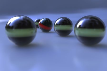 Abstract spheres with depth of field effect photo