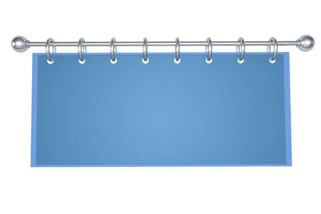 adboard: Empty blue billboard on white background Stock Photo