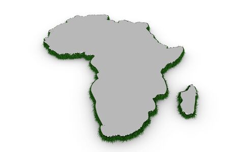 Africa map with grass in 3d photo
