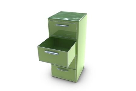Filing cabinet with opened drawer Stock Photo - 6662673