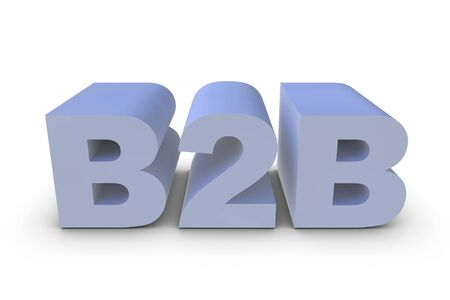 Illustration of a B2B letter in 3D Stock Illustration - 6662841