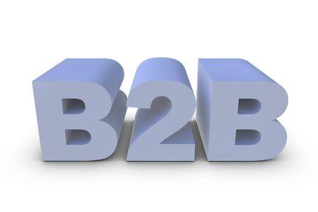 Illustration of a B2B letter in 3D Stock Illustration - 6662841