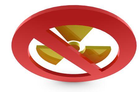 Forbidden radioactive smybol in 3D Stock Photo - 6662959