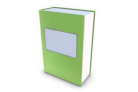 illiteracy: Libro 3D con etiqueta en blanco