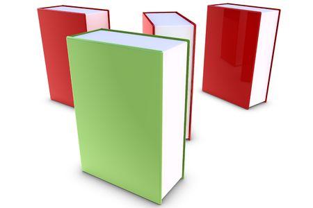 Books on white background photo