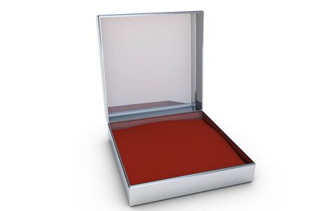 Openede metal gift box in 3D Stock Photo - 6662776