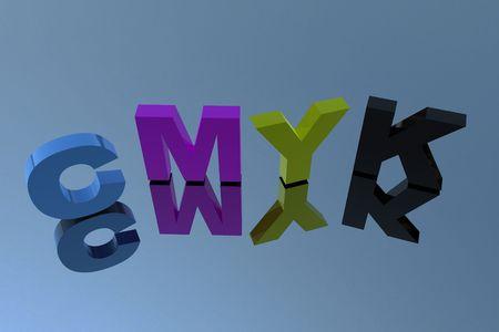 CMYK letter 3D Stock Photo - 6662997