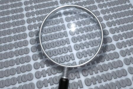 Data analysis with magnifying glass Stock Photo - 6662958