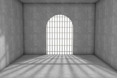 slammer: 3d prison cell with lattices Stock Photo