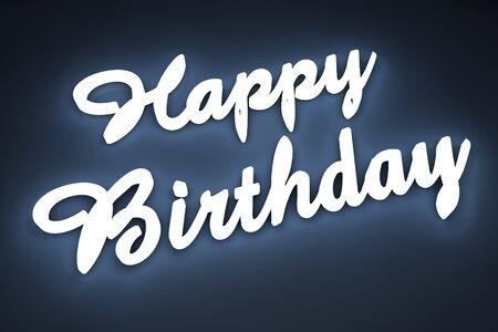 Wszystkiego najlepszego z okazji urodzin listu w 3d Zdjęcie Seryjne