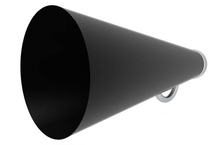 amplify: Antique megaphone isolated on white background Stock Photo