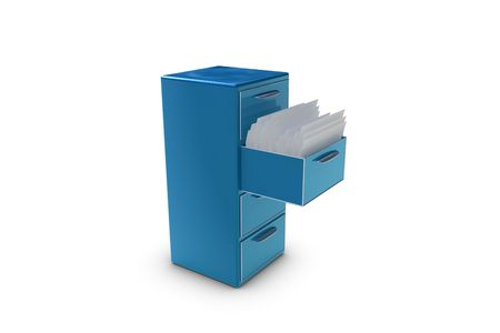 File cabinet with opened drawer Stock Photo - 6662775