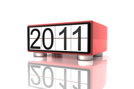 0 1 years: New year 2011 in 3d Stock Photo