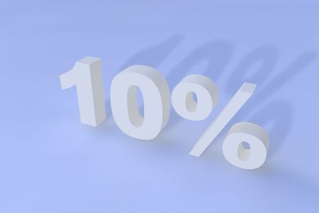 Ten percent with shadow Stock Photo - 6662594