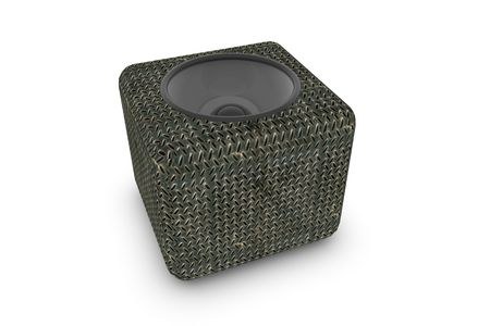 Cube loudspeaker on white background Stock Photo - 6662861