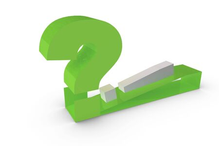 3d rendering of the question mark Stock Photo - 6662697
