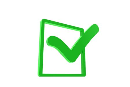 Green check mark with a box Stock Photo - 6662943