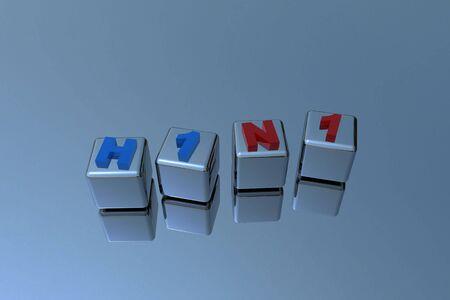 H1N1 Swine flu virus in 3D Stock Photo - 6662888