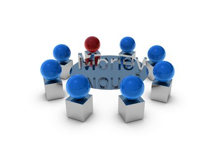 3D Meeting with money letter Stock Photo - 6662962