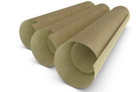 rolled paper: 3d rendered rolled paper on white background