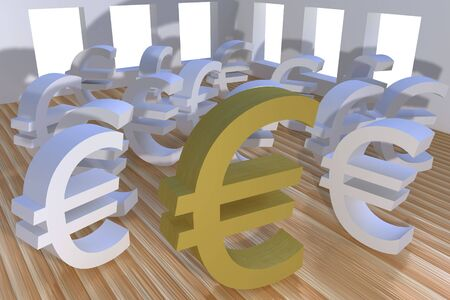 Three dimensional euro currency photo