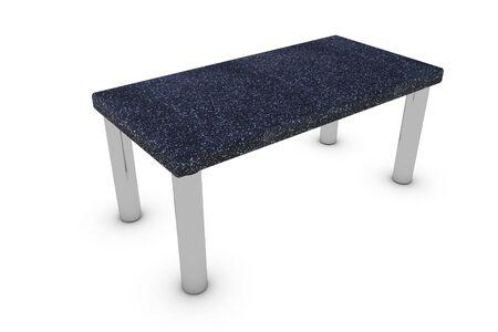 Table isolated on white background photo