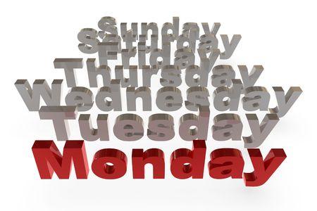 Three dimensional rendering week letter