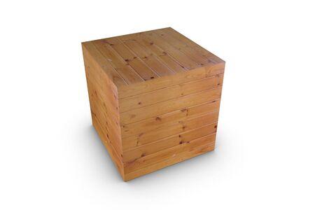 3d render wood cube photo
