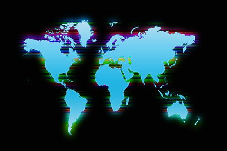 worldmap: Picture of a colorful worldmap background