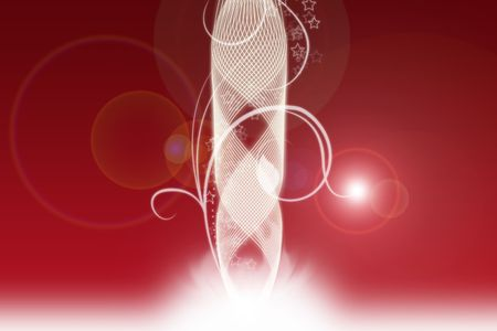 White curves with red background photo