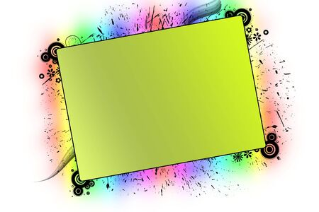 A Frame with splatter effect and colorful background Imagens