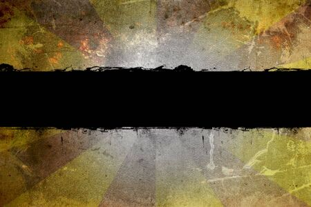 Image of a black grunge banner photo