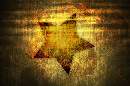 gnarled: An illustration of a grunge star background Stock Photo