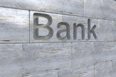 gravure: Lettera di incisione in pietra tridimensionale della Banca