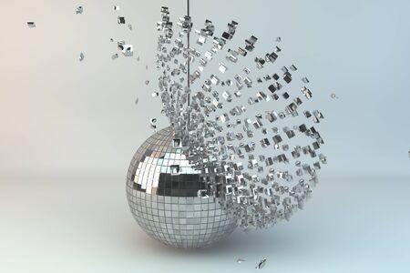 mirror ball: Bola de disco explosi�n en 3d