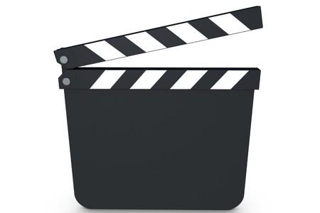 Illustrazione di un filmato 3d clap su sfondo bianco Archivio Fotografico - 7231044