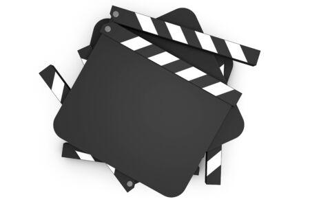 Filmato dello stack battimani su sfondo bianco Archivio Fotografico - 7231046