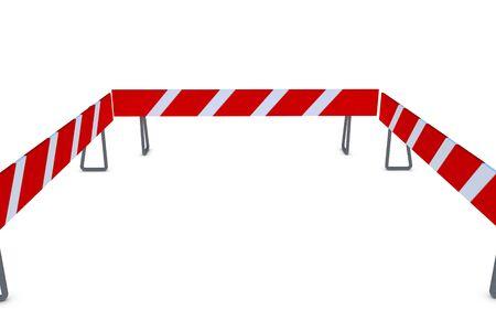 barricade: 3D barricade on white background