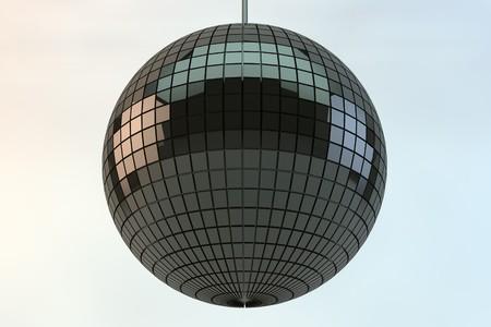 Shiny disco ball in 3d photo