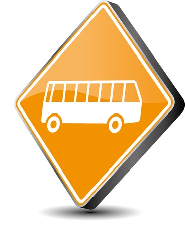 Vector illustration bus icon in 3d