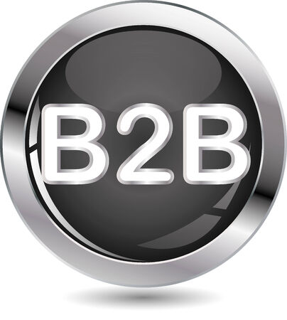 b2b: B2B sign button on white background