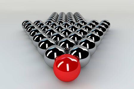 Unikatowaprzywództwa koncepcji - Red kuli z przodu