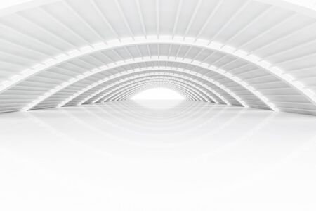 3d rendered empty hall mirroring on floor Stock Photo
