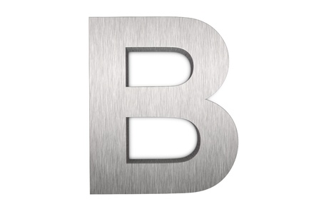Brushed metal letter B photo