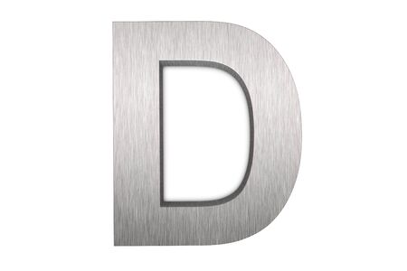 Brushed metal letter D photo