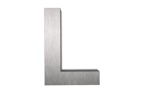 Brushed metal letter L photo